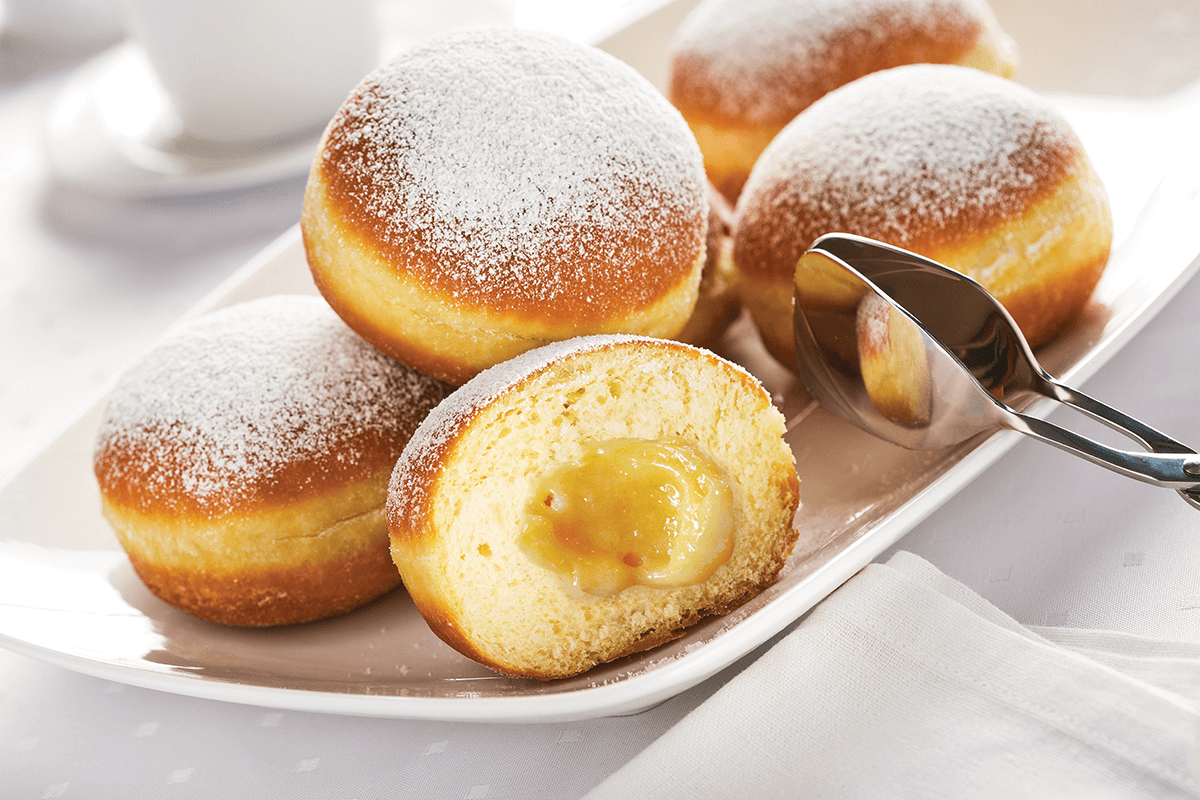 our recipes - lemon curd filled donuts